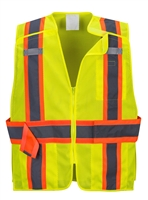 Portwest Expandable Mesh Break Away Vest Yellow US385