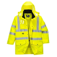Portwest Hi-Vis 7 in 1 Traffic Jacket Yellow US427