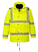 Portwest Hi-Vis 4 in 1 Traffic Jacket Yellow US468